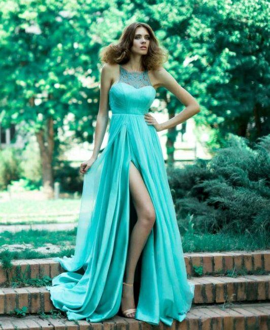 777720887 Vestidos largos azul turquesa - 4