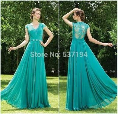 Imagenes de vestidos azul turquesa largos