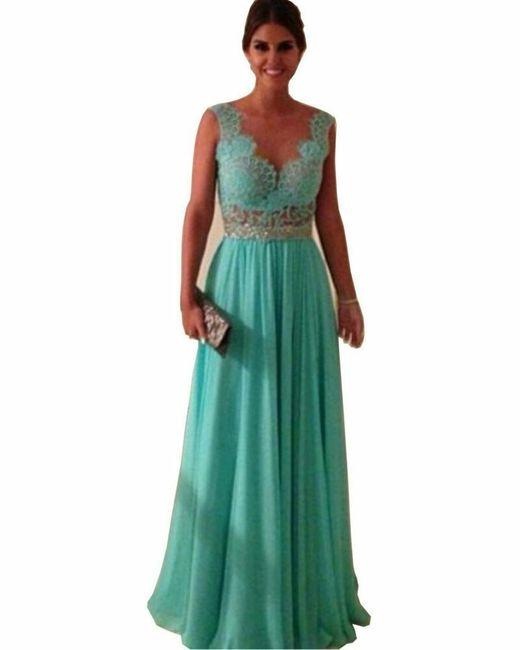 Vestidos Largos Azul Turquesa