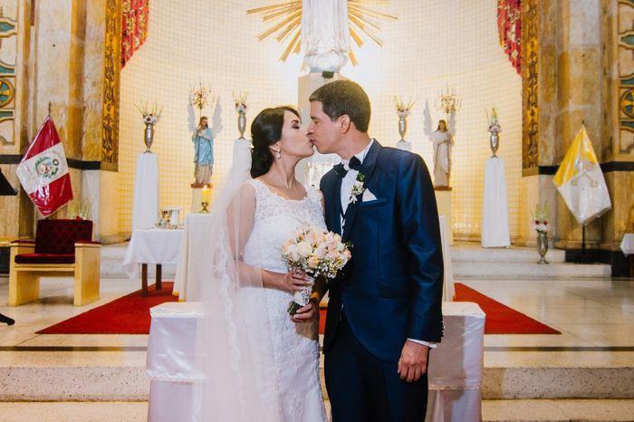 El primer beso de esposos ¿practicaron? 1