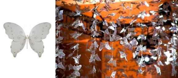 cortina de mariposas