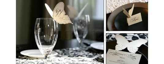 Mariposa como adorno en la copa