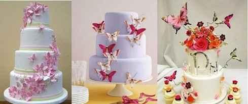 Mariposas en la torta