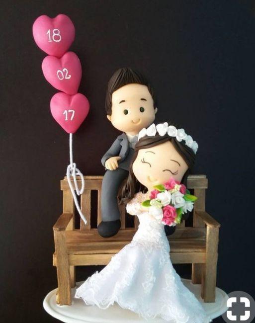 Diseño de novios originales para la torta de bodas 1