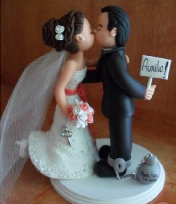 Diseño de novios originales para la torta de bodas 2