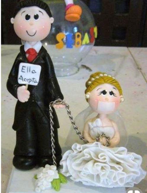 Diseño de novios originales para la torta de bodas 3