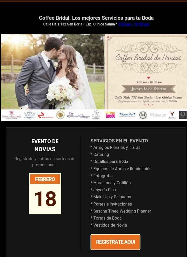 Evento: coffee bridal de novias - 2