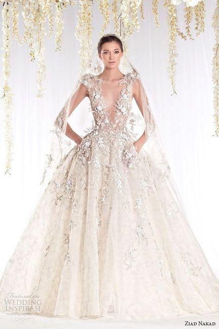 ¿Vestido de novia con o sin brillo? 1