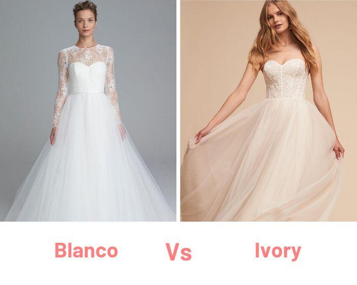 El Cierrapuertas del Vestido ¿Blanco o Ivory? 1