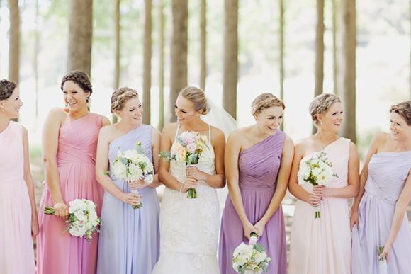 ¡Vestidos de damas de colores pasteles! ¿Cuál eliges? 🌈🌸 1