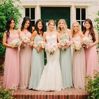 ¡Vestidos de damas de colores pasteles! ¿Cuál eliges? 🌈🌸 2