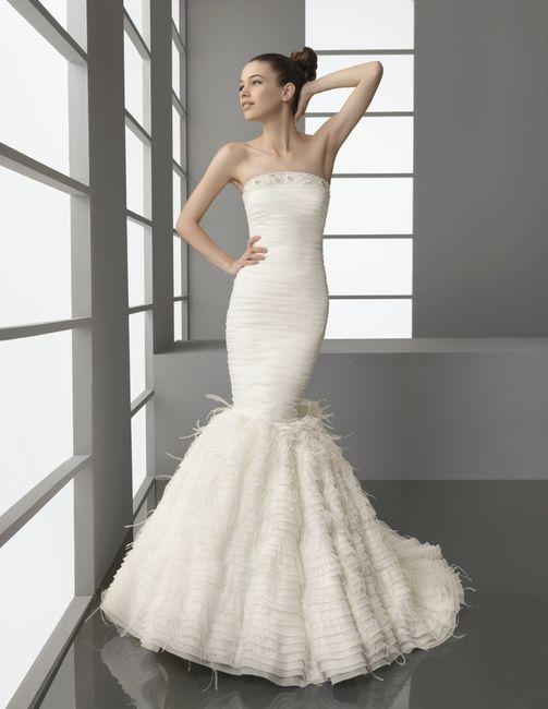 👗 Vestidos para una novia romántica ¡Corte Sirena! 3