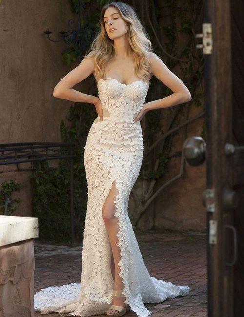 👗 Vestidos para una novia romántica ¡Corte Sirena! 4