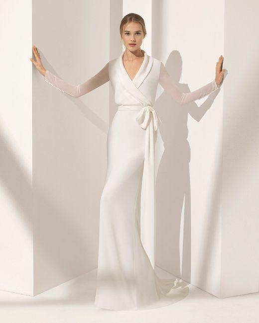 👗 Vestidos para una novia romántica ¡Corte Recto! 3