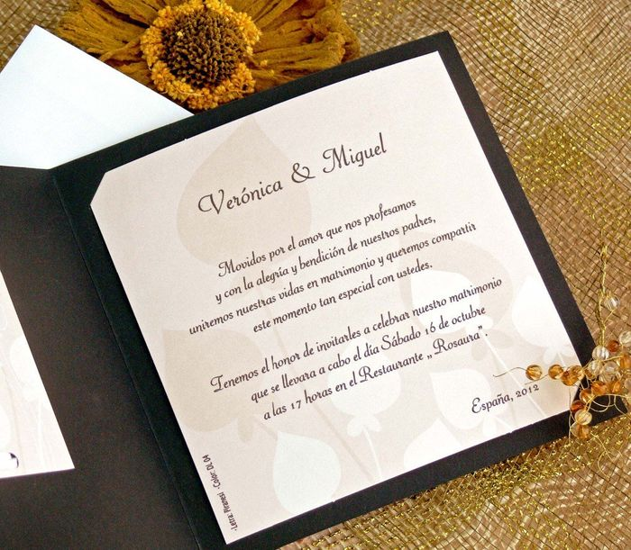 ¿Cómo son sus invitaciones de matrimonio? 1