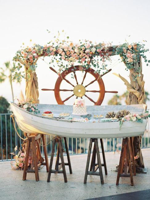 PHOTOCALL para una boda en la playa 1