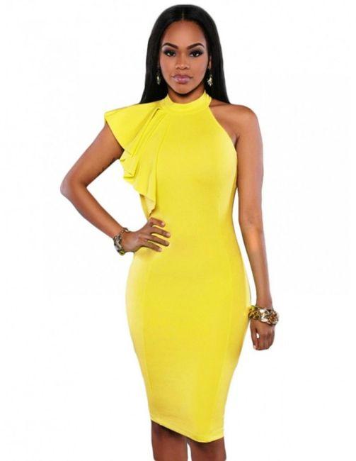 Vestido para el civil amarillo ¿Con cuál te quedas? 3