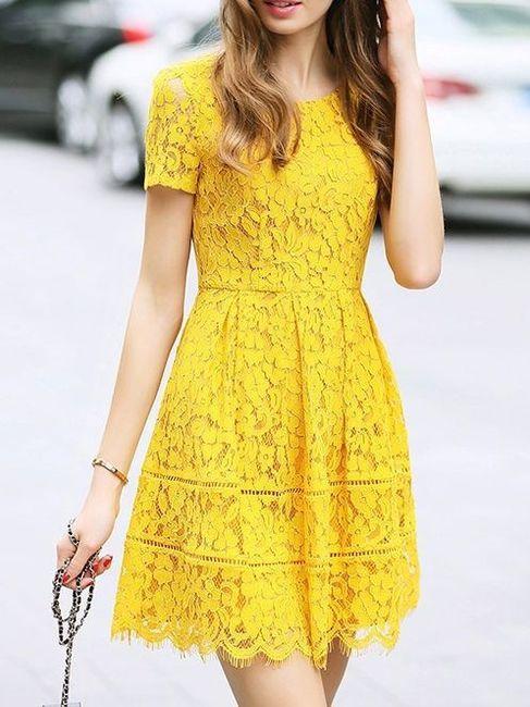 Vestido para el civil amarillo ¿Con cuál te quedas? 5