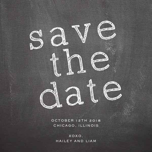 Save the date en pizarra