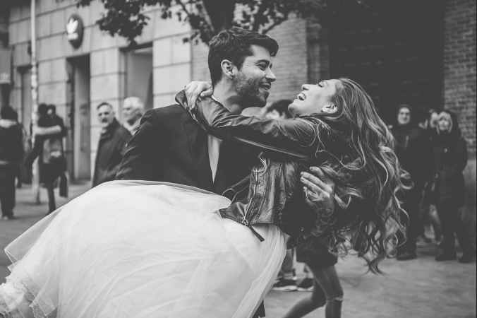 Fotos post boda en blanco y negro