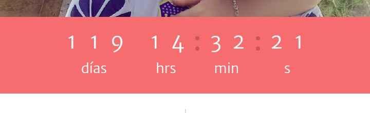 ¿Cuántos días faltan para tu matrimonio? - 1