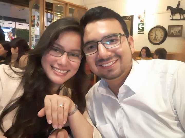 ♥♥ Mi amor y yo en una cena romántica, luego de pedirme la mano en matrimonio ♥♥