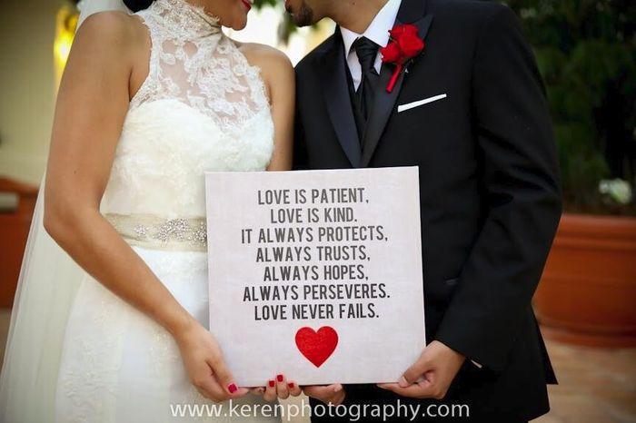 El amor es paciente, es bondadoso. El amor no es envidioso,ni jactancioso,ni orgulloso. No se compo