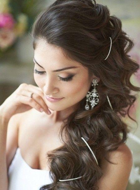 Peinados para boda cabello suelto con velo