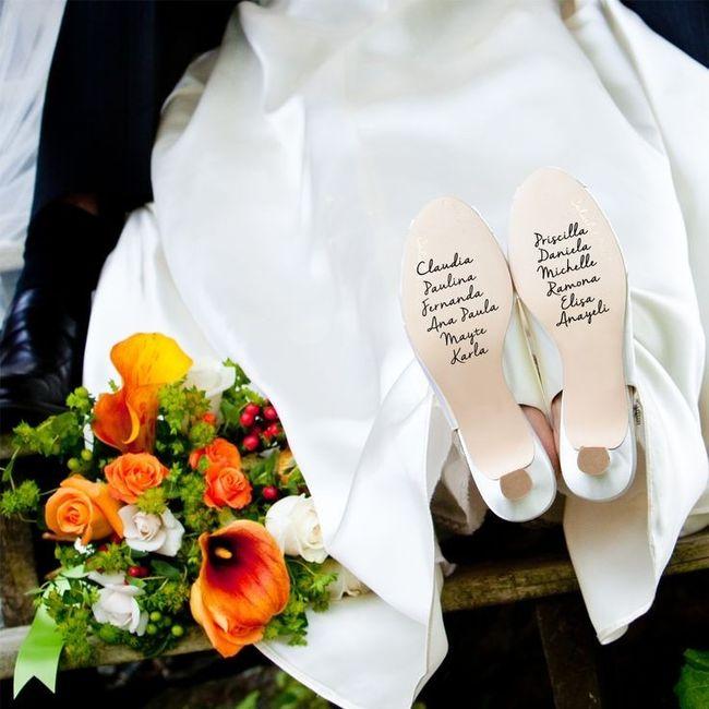 Mensajes En Las Suelas De Los Zapatos De Novia