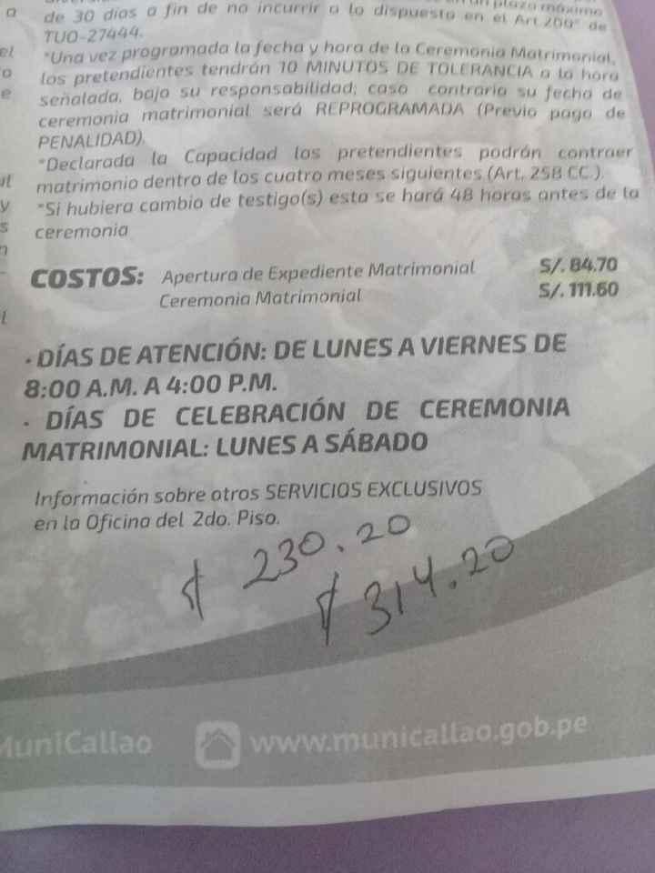 Información sobre el matrimonio civil en el Callao 2019 👇 - 2