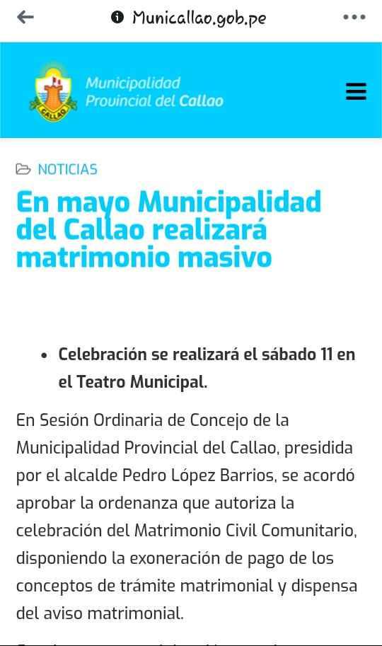 Matrimonio civil masivo en el Callao 2019 - 1