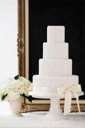 torta 4 pisos flores