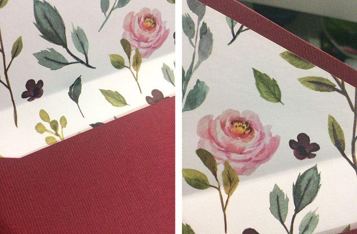 Sobre impreso por dentro con texturas diferentes