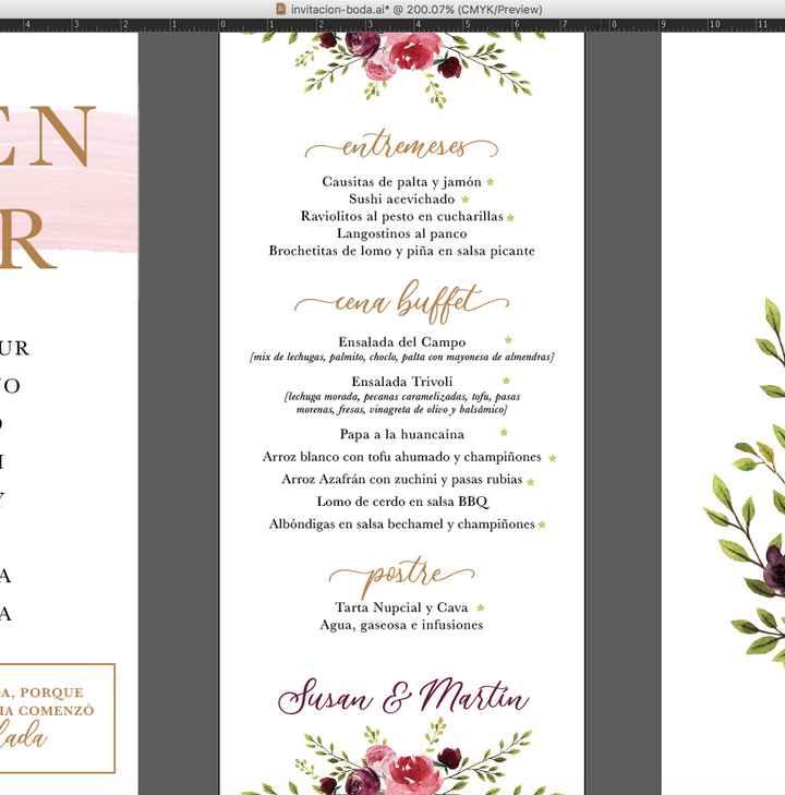 Carta menu y bar