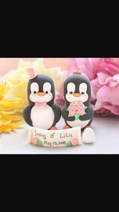 Cake Topper Pinguino