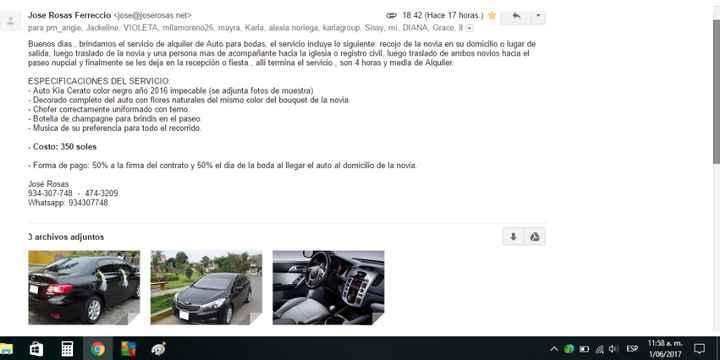 Info de Alquiler de auto