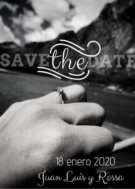 Cuando y como dieron su  save the date ? 2