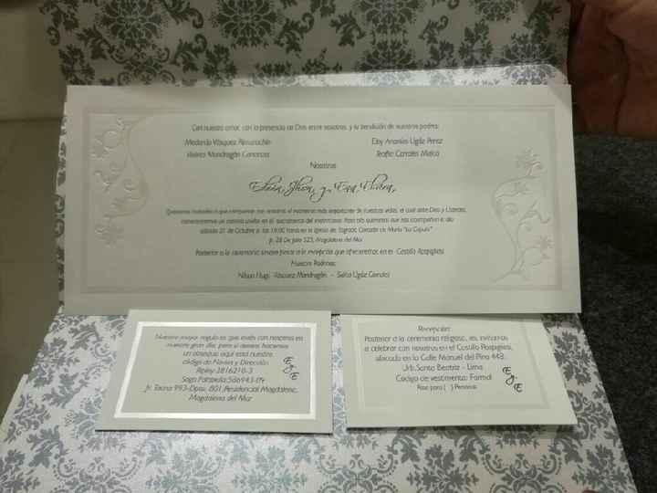 Tarjetas de invitacion - 2