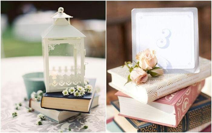 Libros como centros de mesa - Libros antiguos para decoracion ...