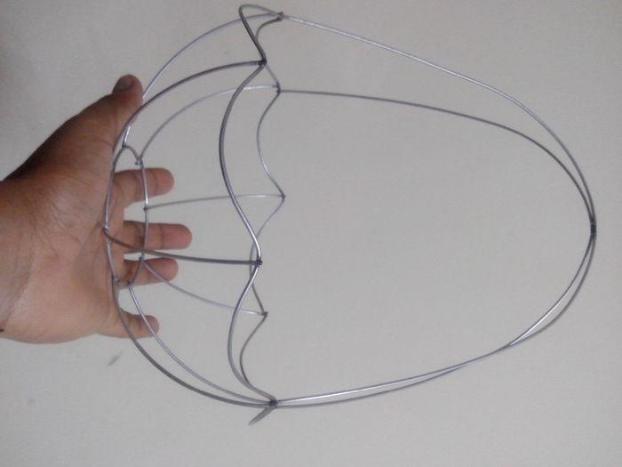1. Canasta: solo alambre