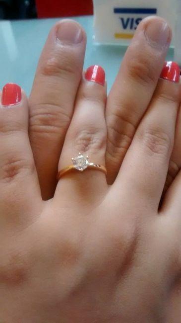 Nuestras manos juntas con el anillo <img class=