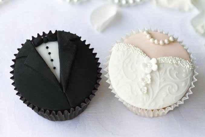 Cupcakes para bodas en blanco y negro!! - 1