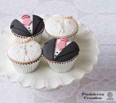 Cupcakes para bodas en blanco y negro!! - 2