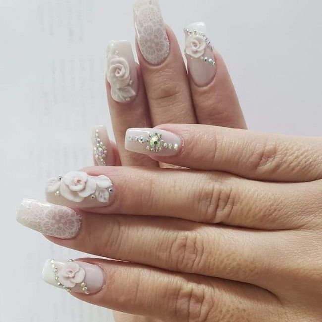 Look novia 100% romántico - La manicure 7