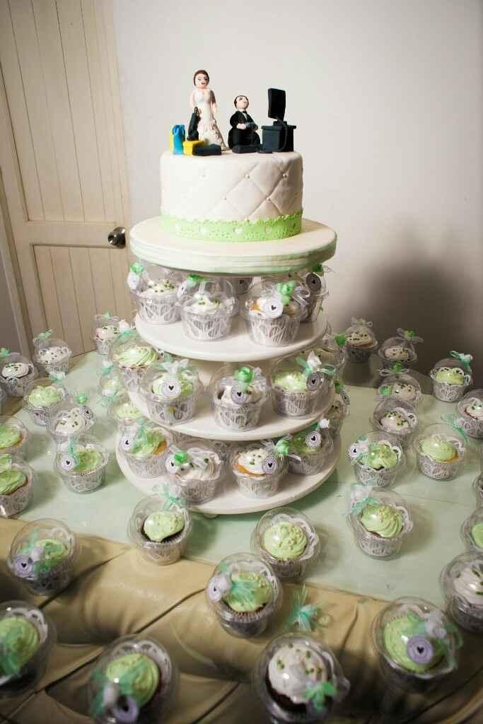 Torta de matrimonio o cupcakes en tu mesa de dulces? - 1