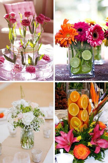 Centros florares para la recepción 1
