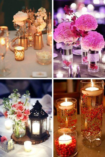 Centros florares para la recepción 3