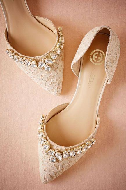 Zapatos bajos para novia 1