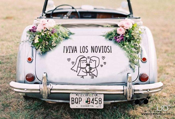 Ideas para decorar el auto de novios 1