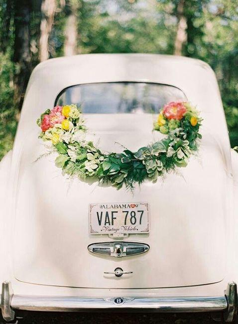 Ideas para decorar el auto de novios 4